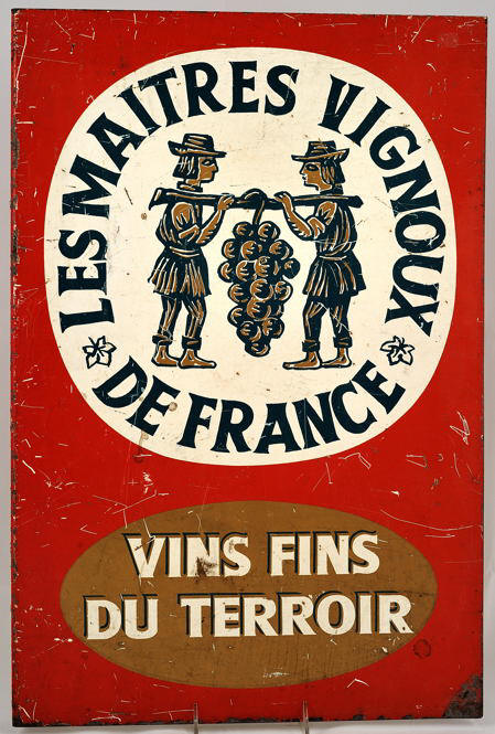 enamel wine sign